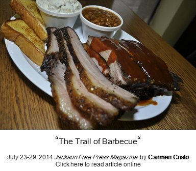 Website link to The Trail of Barbecue article by Carmen Cristo